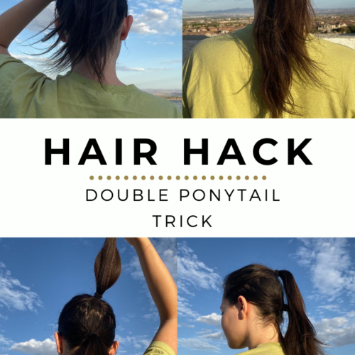 Double Ponytail Trick in Under 5 Minutes (Quick Tutorial)