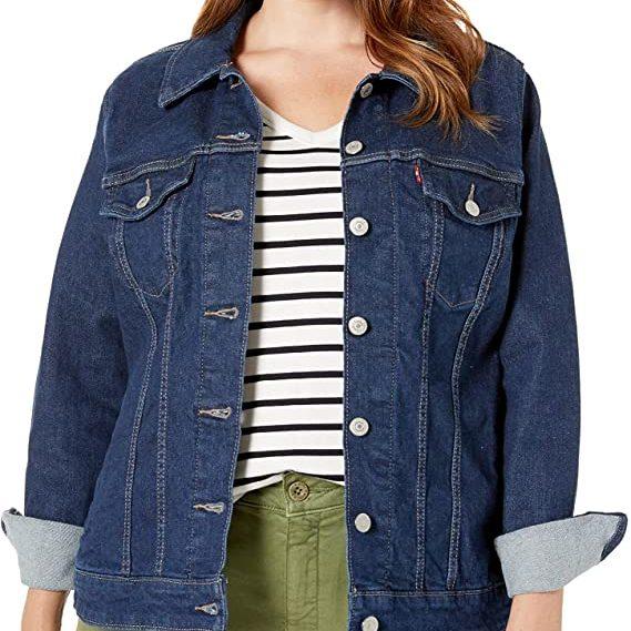 levi's best plus size jean jacket