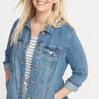 old navy plus size jean jacket