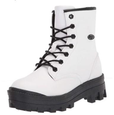 Lugz White Combat Boot