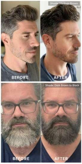 Madison Reed MR mens hair color before and after pictures