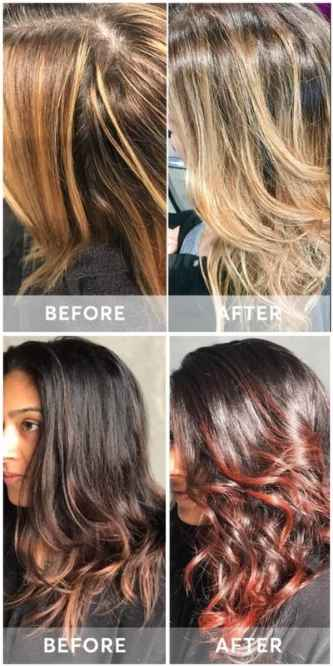 Madison Reed Color Reviving Gloss Before and After pictures